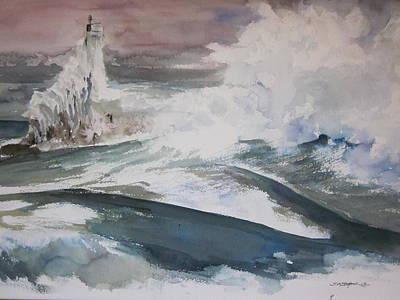 Winter At Little Traverse Bay Original by Sandra Strohschein