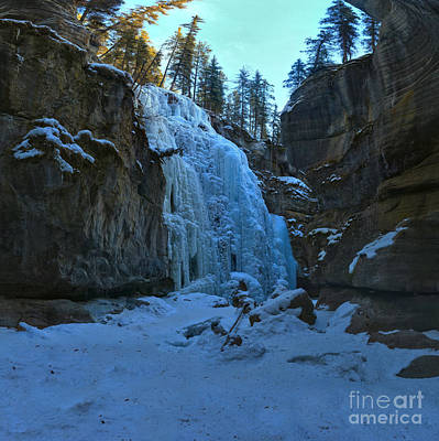 Photograph - Winter At Maligne Canyon by Adam Jewell