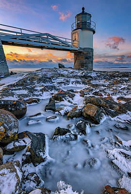 Photograph - Winter At Marshall Point by Rick Berk