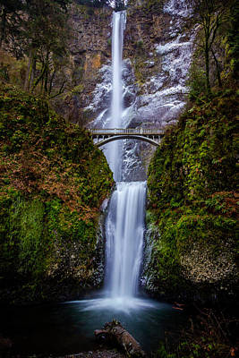 Photograph - Winter At Multnomah Falls 2 by Hans Franchesco