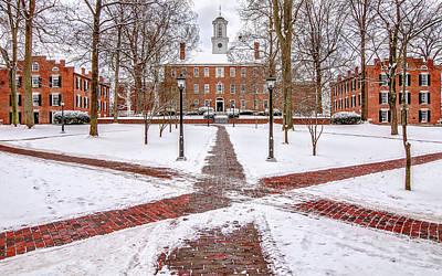 Ohio University Winter Snow Art Print