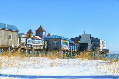 Southern Maine Photograph - Winter At Old Orchard Beach by Elizabeth Dow