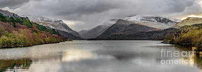 Photograph - Winter At Padarn Lake Snowdonia by Adrian Evans