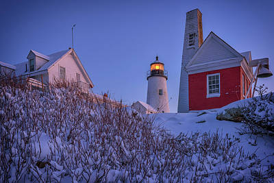 Photograph - Winter At Pemaquid Point by Rick Berk