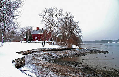 Winter At Perkins House  Art Print