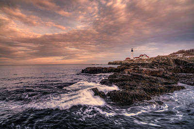 Photograph - Winter At Portland Head Light by Thomas Gaitley