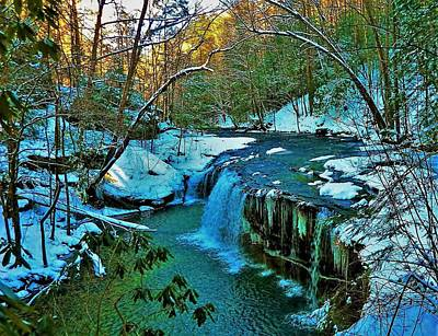 Photograph - Winter At Princess Falls by Gary Edward Jennings