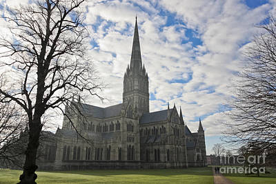 Photograph - Winter At Salisbury Cathedral by Terri Waters