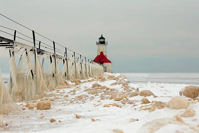 Photograph - Winter At St. Joe's Light by Susan Rissi Tregoning