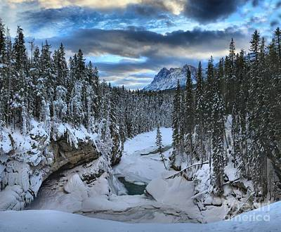 Photograph - Winter At Sunwapta Canyon by Adam Jewell