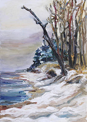 Painting - Winter At The Baltic Sea  by Barbara Pommerenke