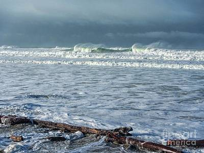 Photograph - Winter At The Beach by Peggy Hughes