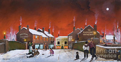 Painting - Winter At The Black Country Museum by Ken Wood