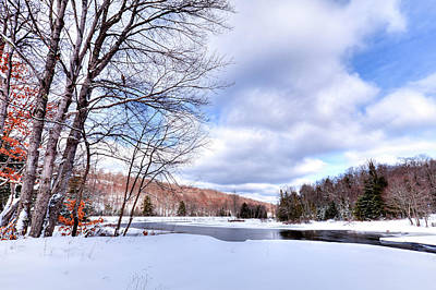 Photograph - Winter At The Dam by David Patterson