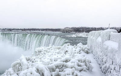 Photograph - Winter At The Falls by Nick Mares