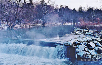 Photograph - Winter At The Grist Mill River by D Hackett