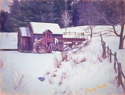 Winter At The Gristmill. Art Print