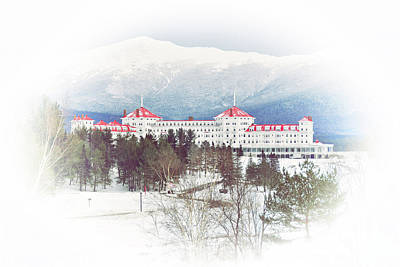 Winter At The Mt Washington Hotel 2 Art Print
