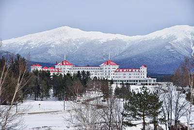 Photograph - Winter At The Mt Washington Hotel by Tricia Marchlik
