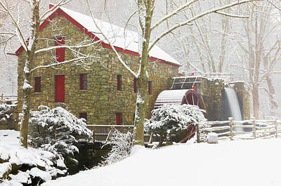 Photograph - Winter At The Sudbury Grist Mill  by Juergen Roth
