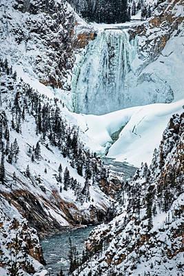 Photograph - Winter At Yellowstone Falls by Stuart Litoff