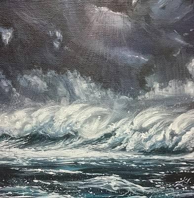 Painting - Winter Atlantic  by Keran Sunaski Gilmore
