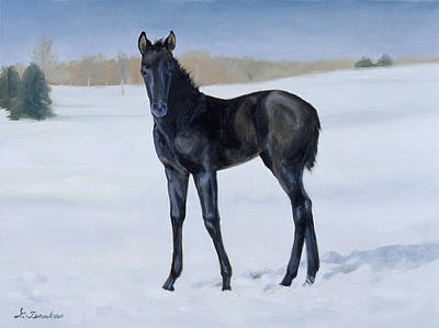 Painting - Winter Baby by Linda Tenukas