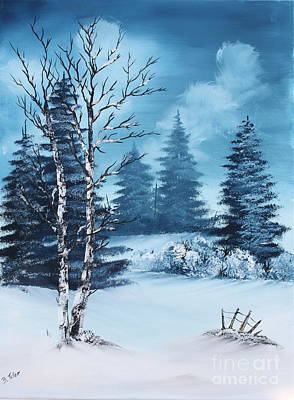 Winter Art Print by Barbara Teller