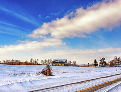 Sean Rights Managed Images - Winter Barn 3 Royalty-Free Image by Steve Harrington