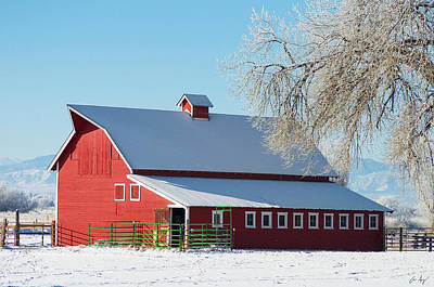 Photograph - Winter Barn by Aaron Spong