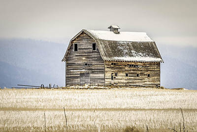 Big Thompson River Photograph - Winter Barn by Bryan Moore