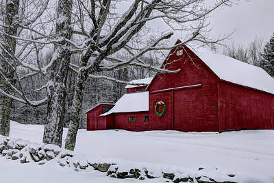 Photograph - Winter Barn by Chris Whiton