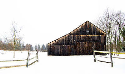Photograph - Winter Barn by Elsa Marie Santoro