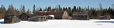 Riverstone Gallery Photograph - Winter Barn by Gregory Steele