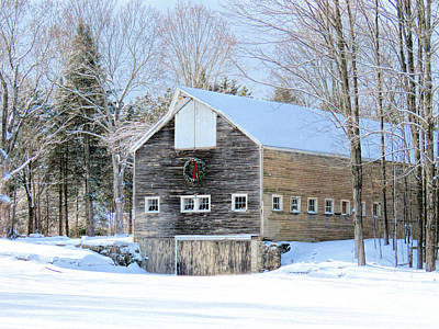 Photograph - Barn In Winter In Hollis Nh by Janice Drew