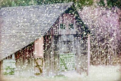Photograph - Winter Barn by Jean OKeeffe Macro Abundance Art