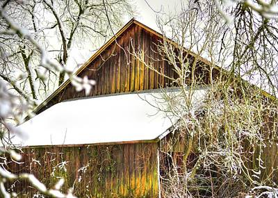 Photograph - Winter Barn by Jerry Sodorff