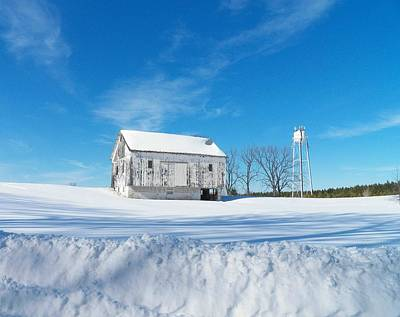 Photograph - Winter Barn by Joyce Kimble Smith