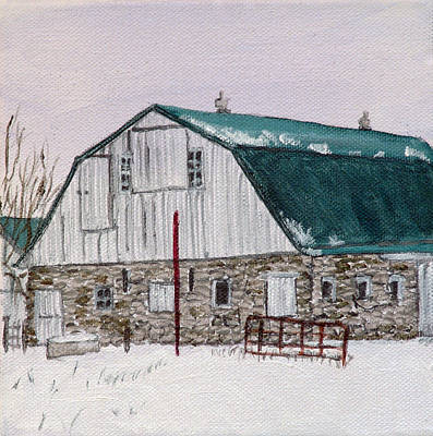 Painting - Winter Barn by Kevin Callahan