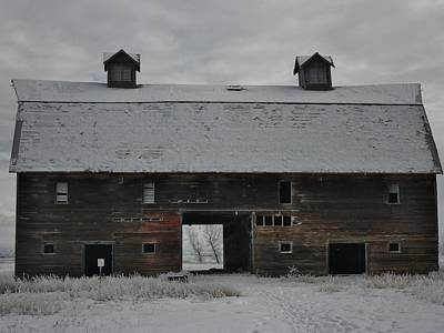 Barns In Snow Photograph - Winter Barn One by Stacey Wendt