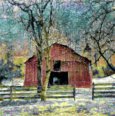 Photograph - Winter Barn by Shirley Moravec