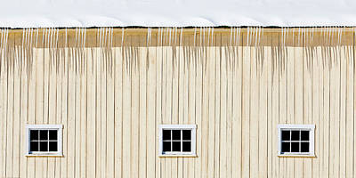 Photograph - Winter Barn Windows by Alan L Graham