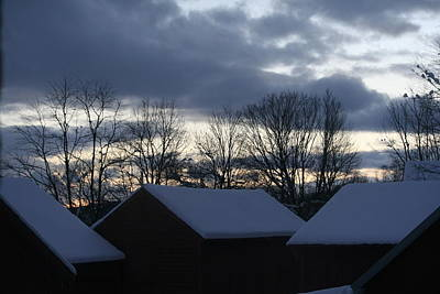 Photograph - Winter Barnscape At Dusk by Aggy Duveen
