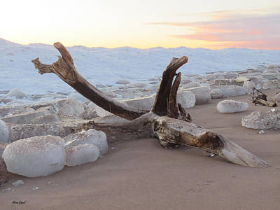 Duluth Photograph - Winter Beach by Alison Gimpel