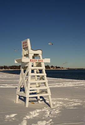 Photograph - Winter Beach At Penfield  by Margie Avellino