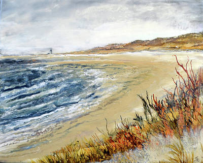 Painting - Winter Beach At Race Point by Jennifer Creech