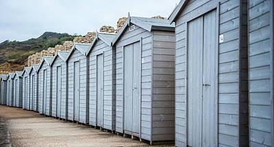 The Great Escape Art Photograph - Winter Beach Huts by Helen Northcott