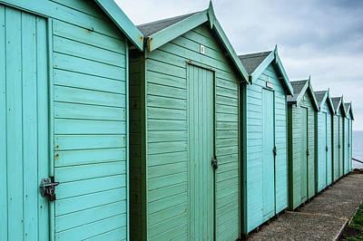 The Great Escape Art Photograph - Winter Beach Huts IIi by Helen Northcott