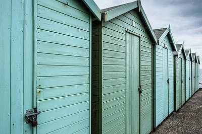The Great Escape Art Photograph - Winter Beach Huts Iv by Helen Northcott