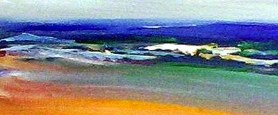 Painting - Winter Beach by Winsome Gunning